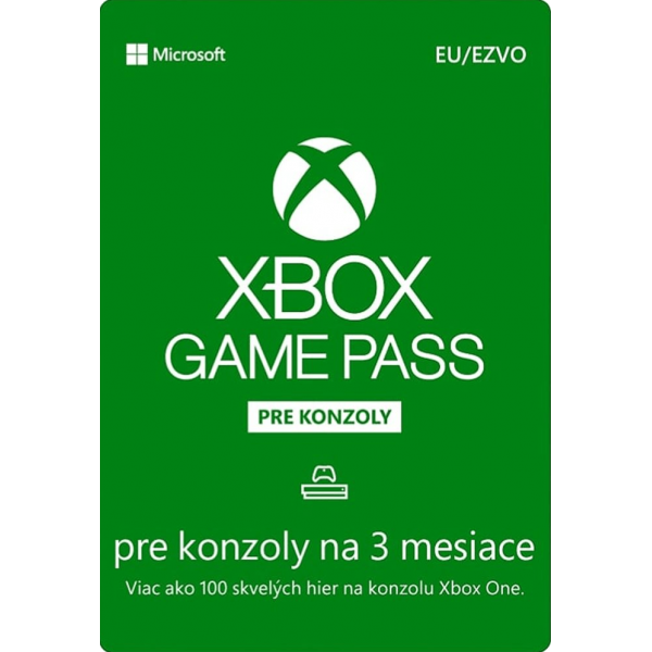 Xbox Game Pass 3 mesiace