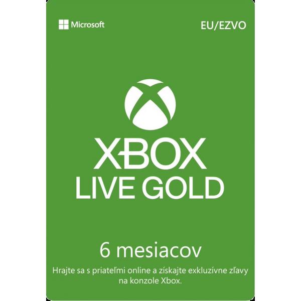 XBOX LIVE Gold karta 6 mesiacov