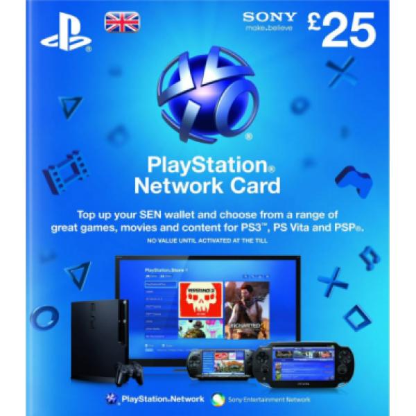 Sony Playstation Network Card PSN 25 UK