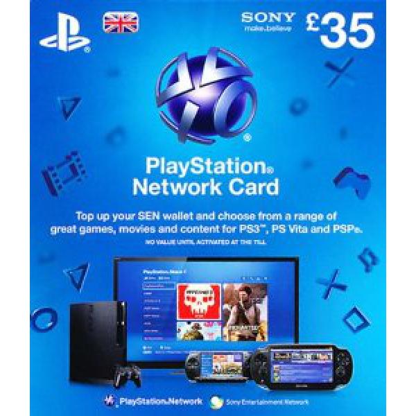 Sony Playstation Network Card PSN 35 UK